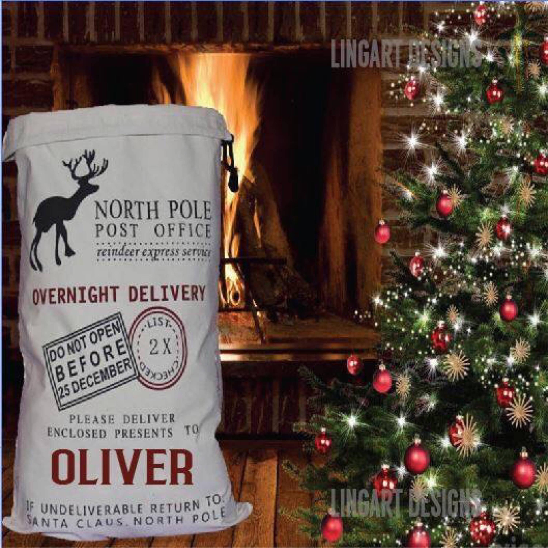 Personalisierte Santa Sack/Geschenk Sack/Weihnachten Sack/Sack | Etsy