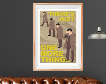6914e38ef9d Columbo - Just One More Thing - A3 Wall Art - Print - Poster - Peter Falk -  Illustration - TV Detective