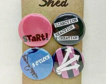 275b16eb31a2 The Jam - 7 inch Singles Art - Paul Weller - Mod - 4 pin button badge set