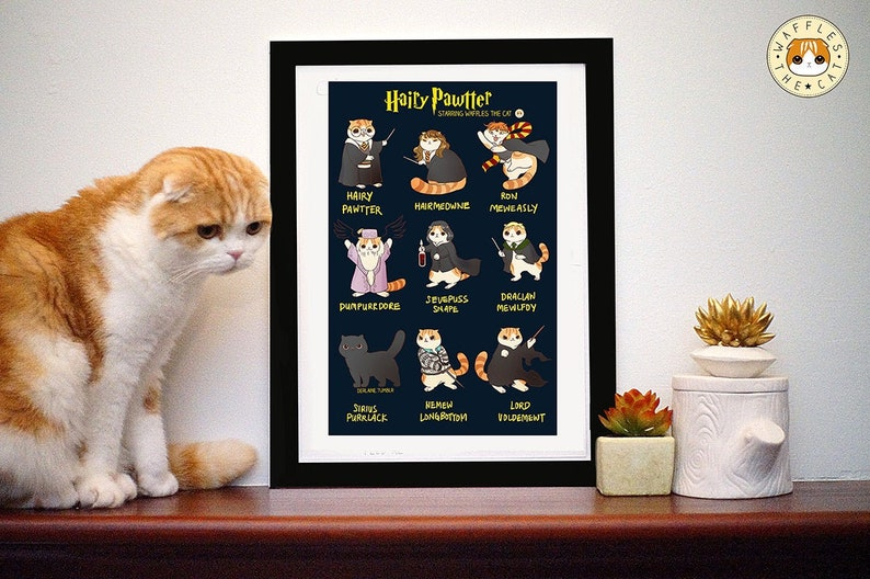 Hairy Pawtter: Funny Harry Potter Cat Poster image 0