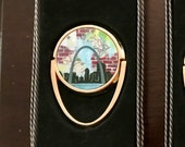 Mobile Phone Ring Holder *Original Artwork - St Louis Map Arch* Cell Phone Stand Purse Bridesmaid Gift