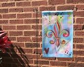 Garden Flag *Original Artwork - Music in the Air Fleur de Lis*