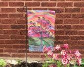 Garden Flag *Original Artwork - J Tree*  Rainbow Wisdom Tree