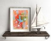 Bluebird - 5x7 & 8x10 Prints - Colorful Soaring Blue Bird