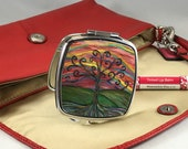 Compact Mirror *Original Artwork - Jay Wisdom Tree* Double Mirror Compact Purse Bridesmaid Gift