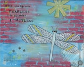Fearless Dragonfly - 5x7 ...