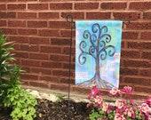 Garden Flag *Original Artwork - Music In the Air*  Rainbow Wisdom Tree