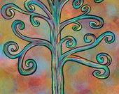 Rainbow Tree - 5x7 & 8x10 Prints - Colorful Rainbow Wisdom Trees