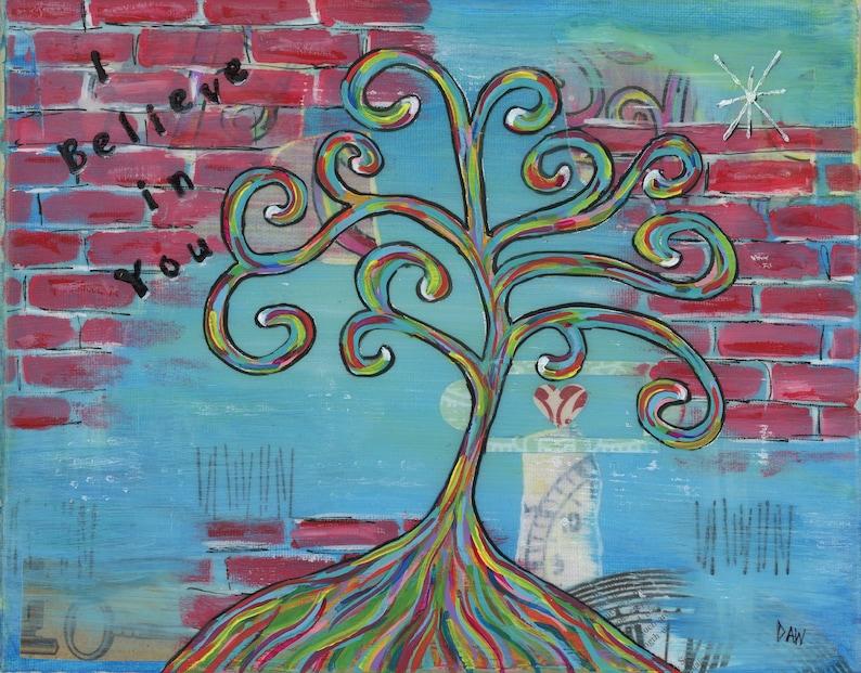 I Believe In You  5x7 & 8x10 Matted Prints  Rainbow Wisdom image 0