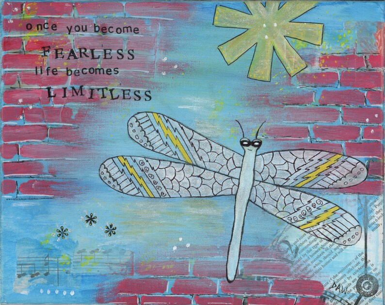 Fearless Dragonfly  5x7 & 8x10 Matted Prints  LIFE BECOMES image 0