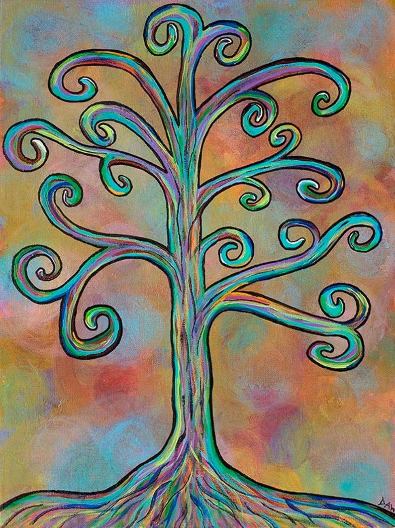 Rainbow Tree  5x7 & 8x10 Prints  Colorful Rainbow Wisdom image 0