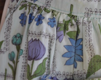 Vintage Blue Flower Apron