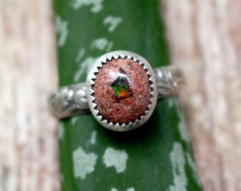 Mexican Cantera Opal ring Size 7 3/4