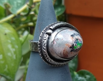 Mexican Cantera Opal Ring, size 8 1/4