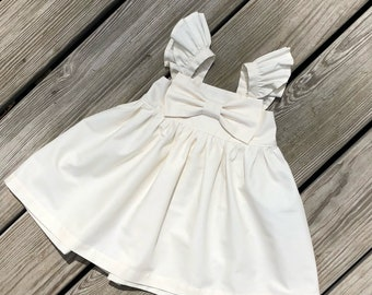 78d65dfc6 ivory big bow dress, girls ivory dress, ivory flower girls dresses ,  Thanksgiving dresses, newborn coming home outfits, toddler birthday