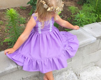 f376b4357 Lacey plum girls dress, toddler birthday dress, photography, baby photo prop,coming  home outfit,flower girls simple dresses,multiple colors