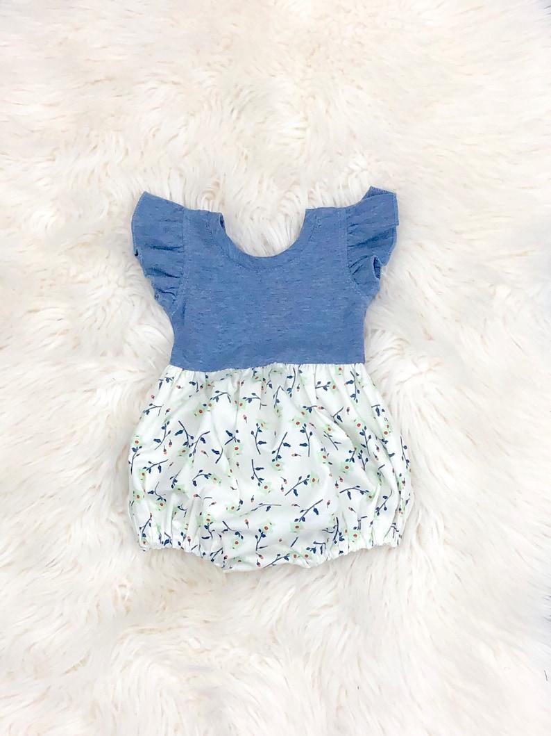 292337b8c79e Toddler Easter bubble romper baby girls spring dresses
