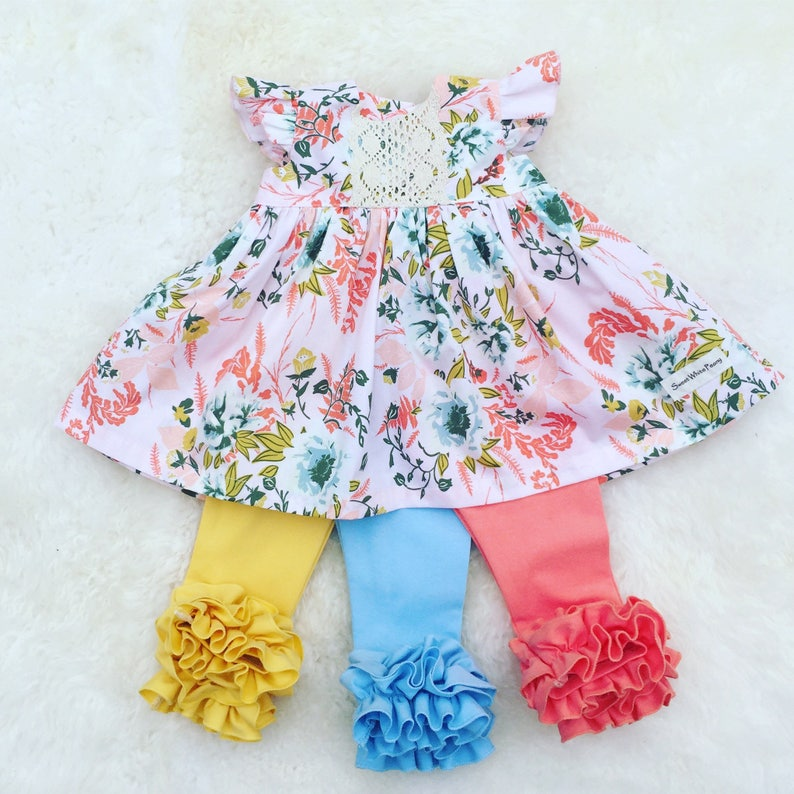 cf5b91260c56 Easter coral floral dress floral girls outfits toddler   Etsy