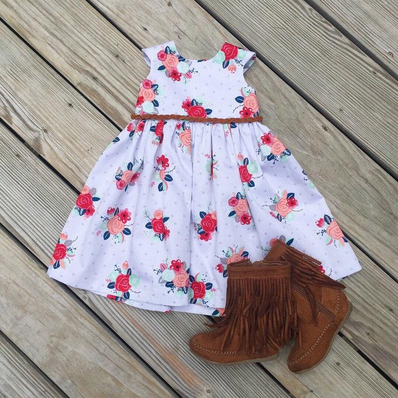 303e1af280a6 Easter coral floral dress toddler Easter dresses baby girls   Etsy