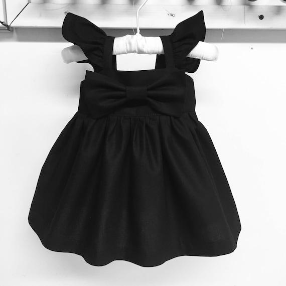 Big Bow Flutter Sleeves Dress Summer Dresses Toddler Etsy