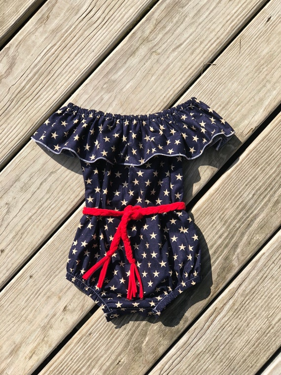 22b276cc5042 American flag girls bodysuit   toddler patriotic outfits   4th