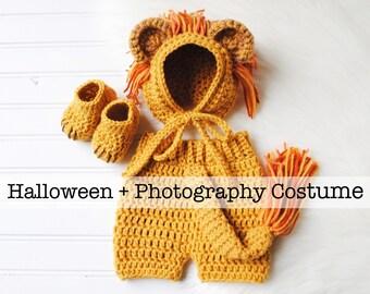 Lion Costume Baby Lion Costume Baby Lion Outfit Baby Halloween Baby Halloween Costume Baby Costume Newborn Photography Newborn Prop  sc 1 st  Etsy & Newborn lion costume | Etsy