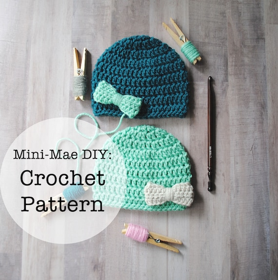 Crochet Pattern Crochet Baby Hat Pattern Hat Pattern Etsy