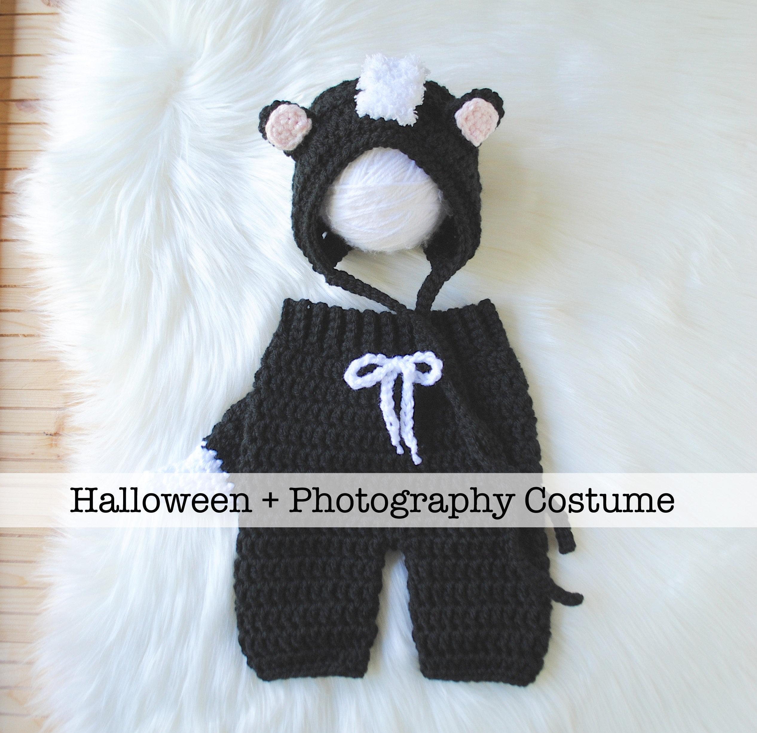 baby skunk costume newborn halloween costume newborn | etsy
