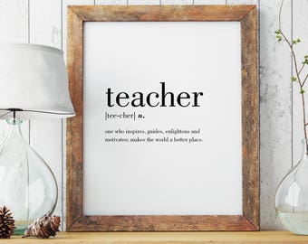 Teacher print | Etsy