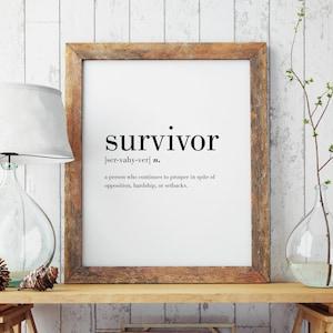 Mixed Media Wall Art Survivor