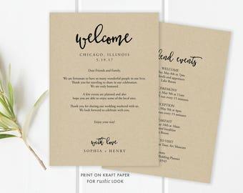 wedding itinerary template wedding itinerary pdf template etsy