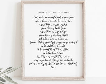 picture about St Francis Prayer Printable referred to as St francis printable Etsy