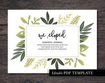 we eloped card etsy