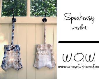 Speakeasy Wristlet PDF Sewing Pattern