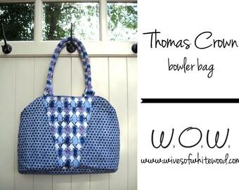 Thomas Crown Bowler Bag PDF Sewing Pattern