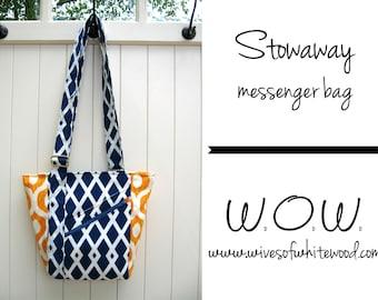 Stowaway Messenger Bag PDF Sewing Pattern