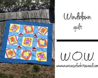 Windblown Quilt PDF Sewing Pattern