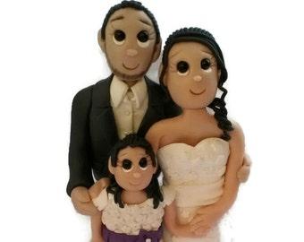 Custom Family Wedding Cake Topper