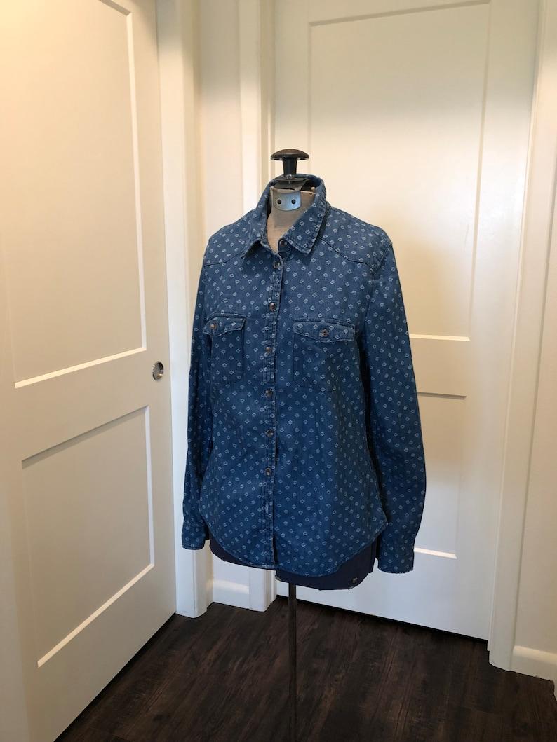 Blue Denim Western ShirtBlouse