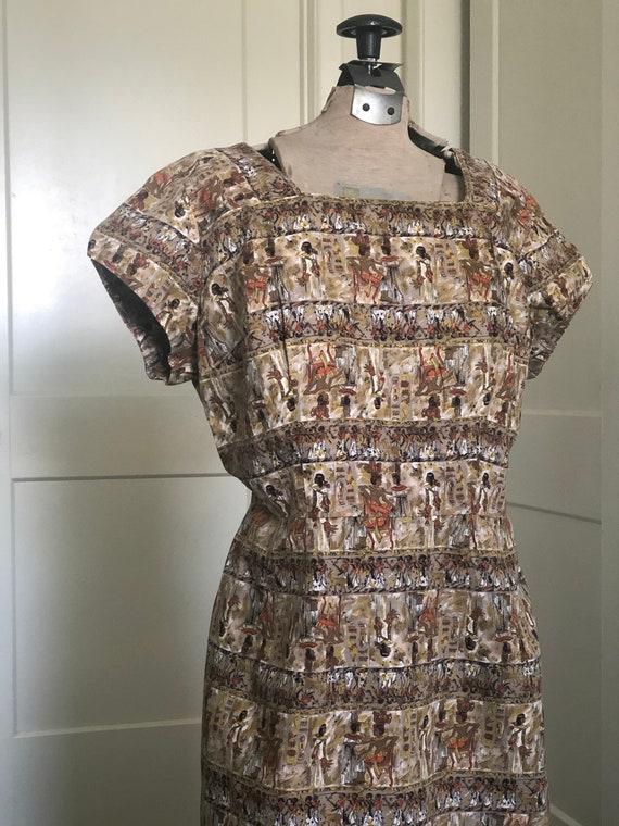 Novelty Egyptian Print Dress - image 2
