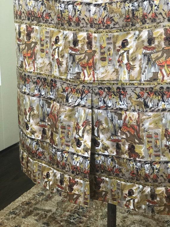 Novelty Egyptian Print Dress - image 8