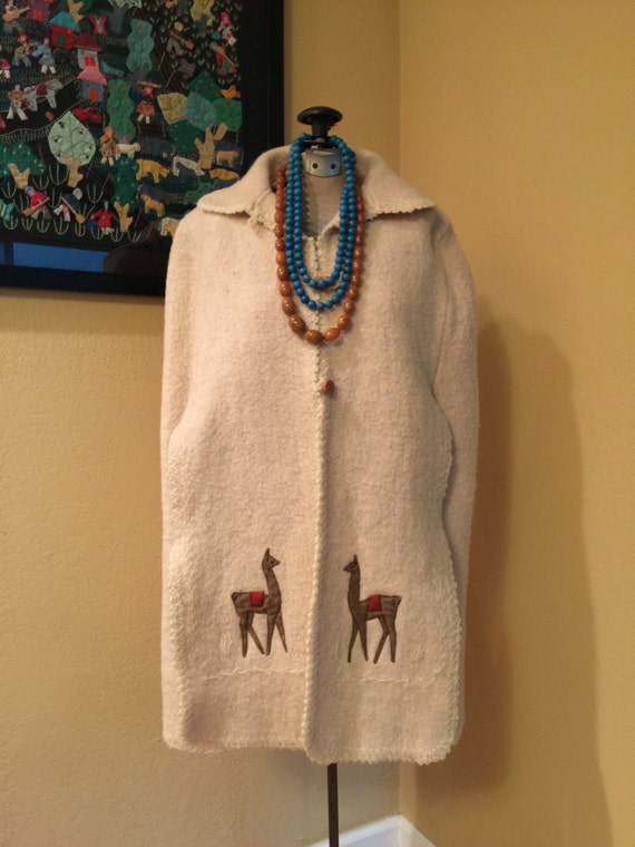 Peruvian Style Cocoon Poncho Coat