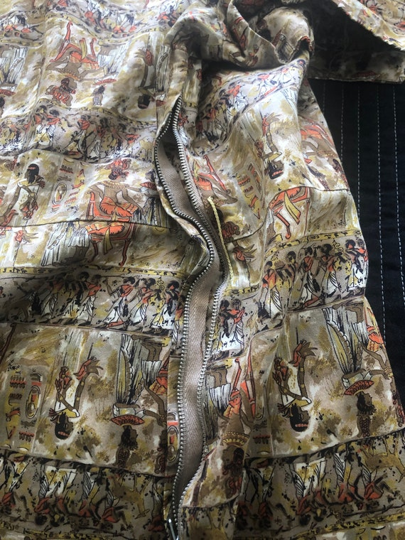 Novelty Egyptian Print Dress - image 9