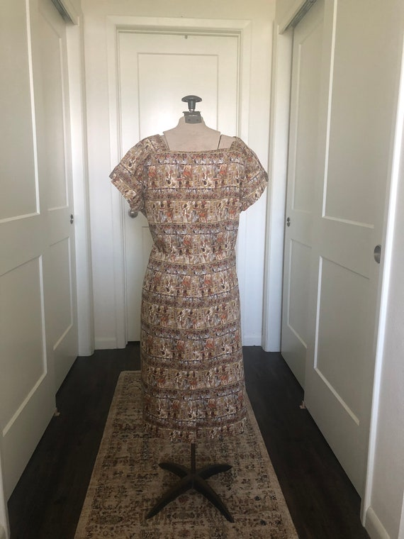 Novelty Egyptian Print Dress - image 10