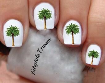 Palm Tree Nail Art Etsy