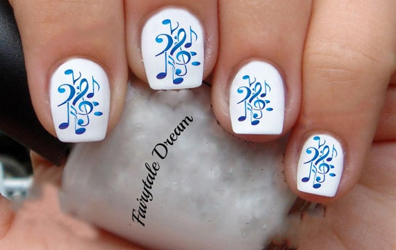 1163 Music Note 20 Water Slide Nail Art Transfer Decals Etsy