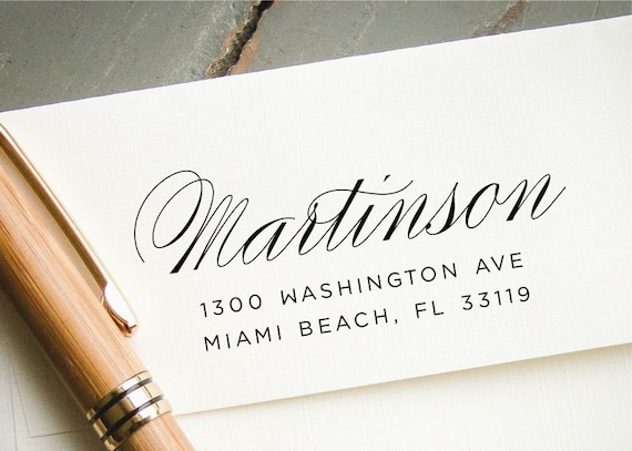Personalized Rubber Stamp Custom Calligraphy Stamp HS11P Custom Rubber Stamp Custom Return Address Stamp Self Inking Address Stamp