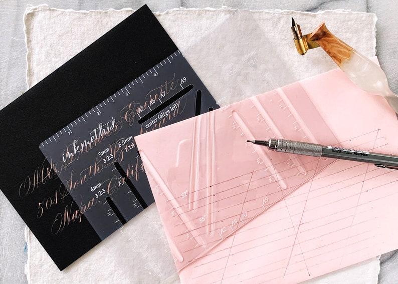 Envelope Addressing Template Envelope Guide Hand Calligraphy image 0