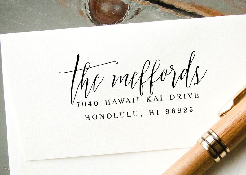 Pre-Inked Custom Rubber Stamp Self-Inking Return Address Stamp Personalized Wedding Invitation Stamp