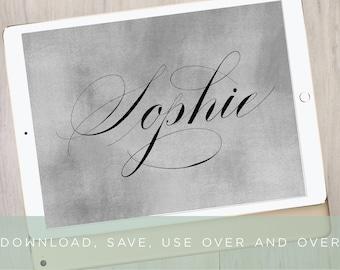Sophie Procreate Calligraphy Brush | Modern Lettering Brush | iPad Pro Procreate Installable Brush | Calligraphy by Kestrel Montes